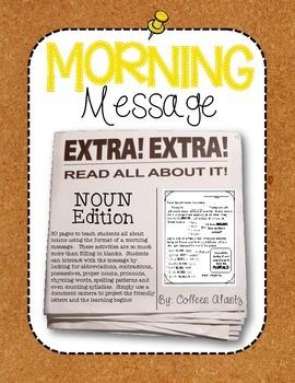 Morning Message: Noun Edition