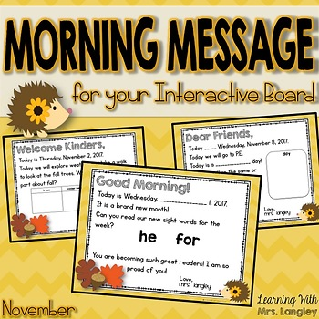 Morning Message November