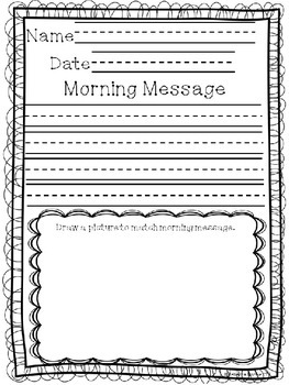 Editable....Morning Message Paper