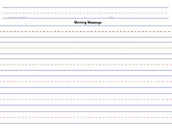 Morning Message Paper Prek - 2