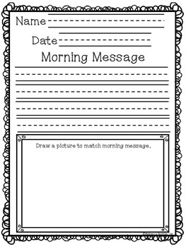 Morning Message Paper - Sample