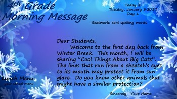 Morning Message Power Point