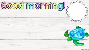 Morning Message PowerPoint (Tropical & Shiplap Theme) EDITABLE