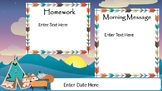 Morning Message Powerpoint Tribal