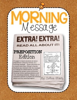 Morning Message: Preposition Edition