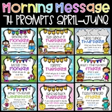 Morning Message Prompts for April through June