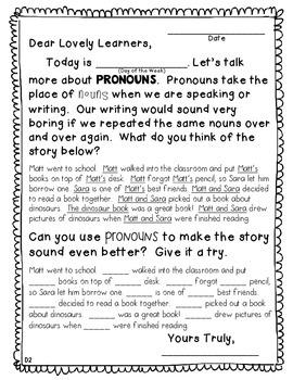 Morning Message: Pronoun Edition