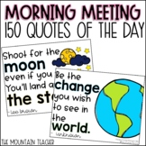 Quote of the Day for Morning Meeting Message Printable and