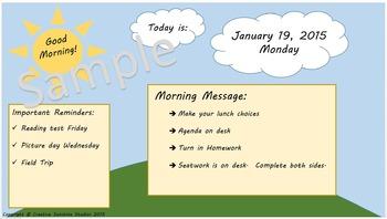 Morning Message Reminder