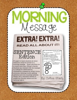Morning Message: Sentence Edition