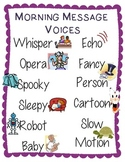 Morning Message Silly Voices Poster