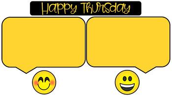 Morning Message Slide Templates | Emoji Faces Theme
