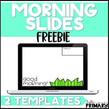 Morning Message Slide Templates FREEBIE