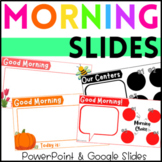 Morning Message Slides PowerPoint & Google Slides Distance