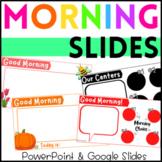 Morning Message Slides PowerPoint & Google Slides | Distan
