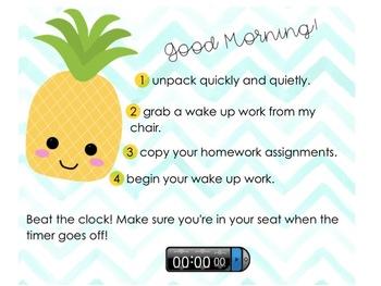 Morning Message Smart Notebook