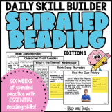 STAAR Reading Spiral Review: Edition 1