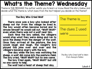 READING TEST PREP: Morning Message Spiraled Reading Skills *FREE WEEK*