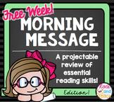 Reading Morning Work Spiraled Review FREE WEEK!
