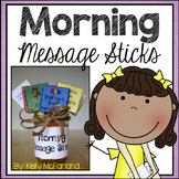 Morning Message Sticks {Common Core Aligned}