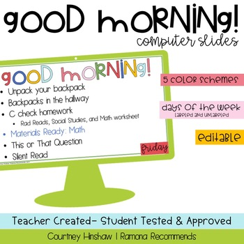 Morning Message Template {Good Morning!}