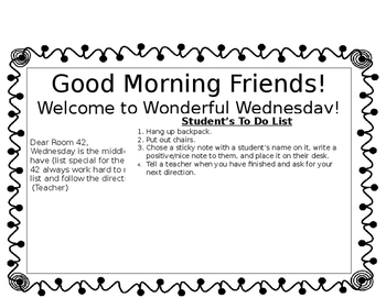 Morning Message Template (SPED)