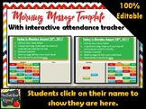 Morning Message Template with Interactive Attendance Tracker