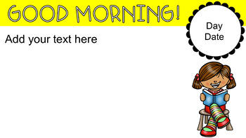 Morning Message Templates #luckydeals