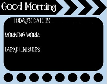 Morning Message Templates