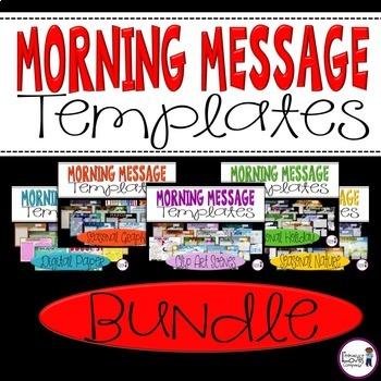 Morning Message Templates {BUNDLE}