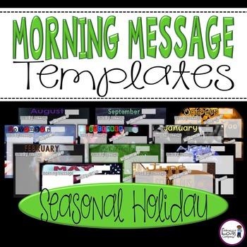Morning Message Templates {Seasonal Holiday}