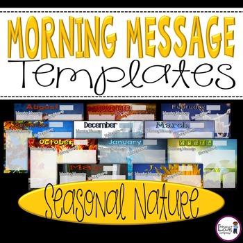 Morning Message Templates {Seasonal Nature}