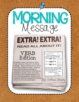 Morning Message: Verb Edition