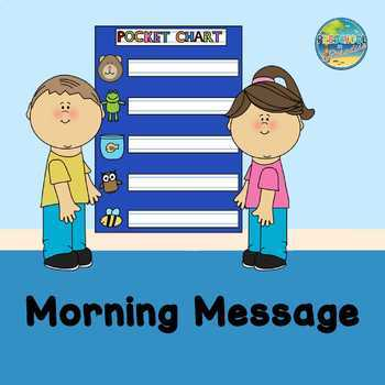 Morning Message:  We are learning about........