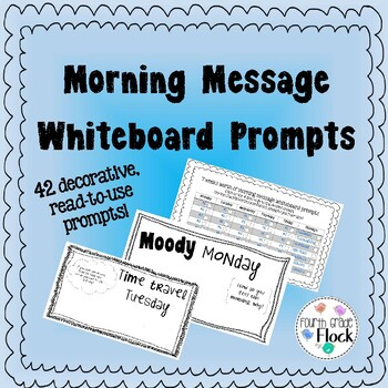 Morning Message Whiteboard Prompts