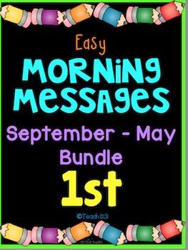 Morning Message September - May 1st First Grade