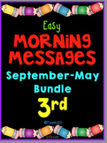 3rd Grade Morning Messages September - May