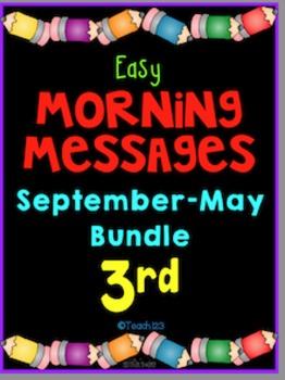 3rd Grade Morning Messages September - May