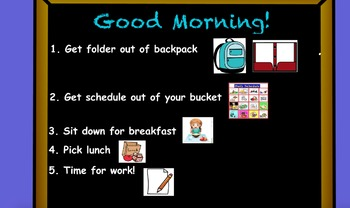 Morning Message and Lunch Flipchart