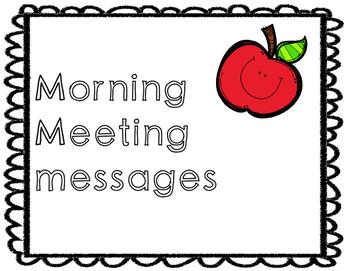 Morning Message ideas