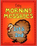 November 1st 2nd Morning Messages