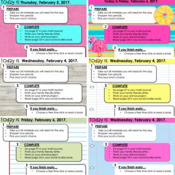 Morning Messages Assignment Slides for Big Kids