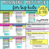 Morning Messages Assignment Slides for Big Kids