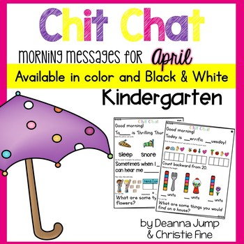Morning Messages: Chit Chat APRIL NO PREP