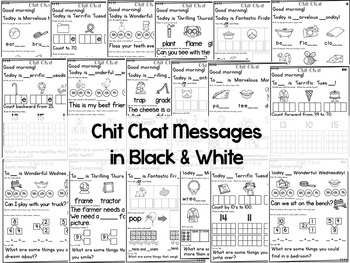 Morning Messages: Chit Chat February NO PREP