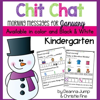 Morning Messages: Chit Chat January NO PREP