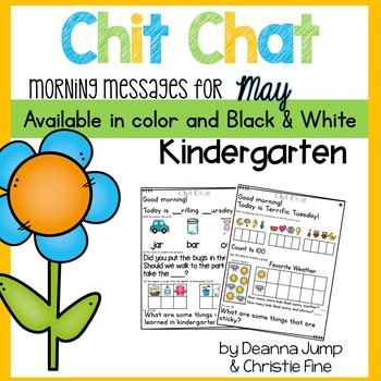 Morning Messages: Chit Chat MAY NO PREP