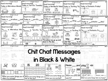 Morning Messages: Chit Chat March NO PREP