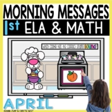 Morning Messages DIGITAL First-Grade APRIL