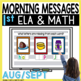 Morning Messages DIGITAL First-Grade AUG/SEPT